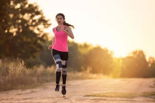 jogging i naturen