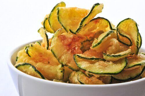Chips av agurk