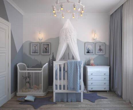 De fire beste fargene til et barns soverom