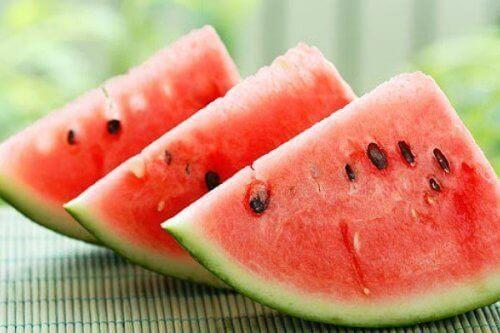 Skivet vannmelon.