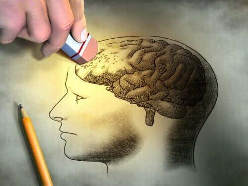 Det finnes en rekke symptomer på hukommelsestap.