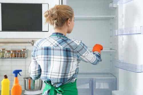 Miljøvennlige måter desinfisere og rengjøre kjøleskapet på