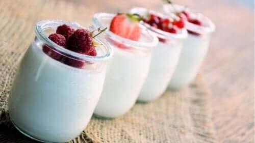 Yoghurt naturell for å forbrenne magefettet.