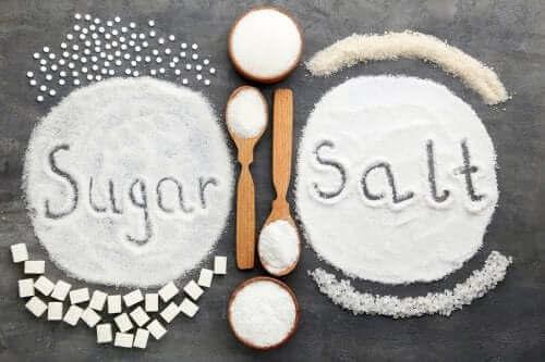 Overdrevent inntak av sukker og salt: Hva er verst for helsa di?