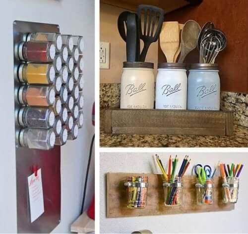 Syltetøyglass til oppbevaring