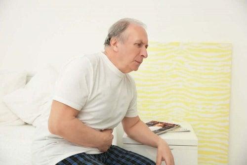 En mann med prostataproblemer.