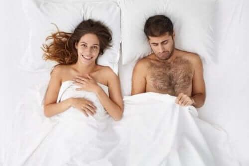 Nedsatt seksuell lyst hos menn.