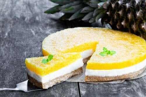 Piña Colada-ostekake som ikke må stekes