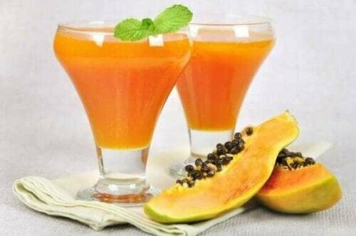 De forskjellige helsefordelene ved papaya.