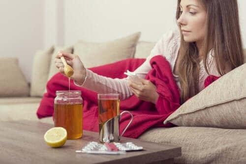 Tre preparater med honning for å lindre influensa