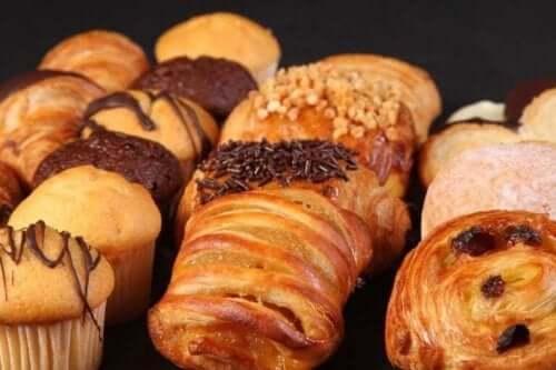 Søtsaker og hydrogenert fett.