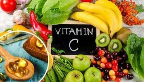 Forskjellige kilder til vitamin C