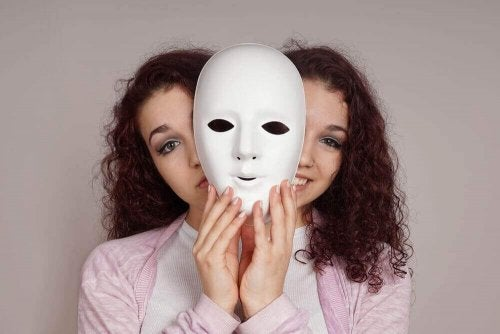 En kvinne med bipolar lidelse.