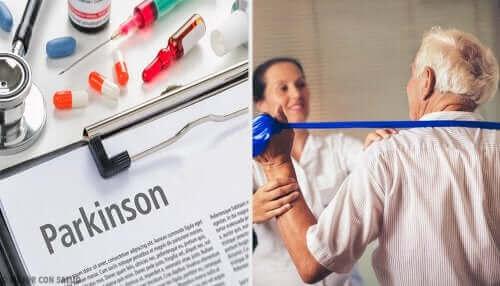 En person med Parkinson som er under behandling.