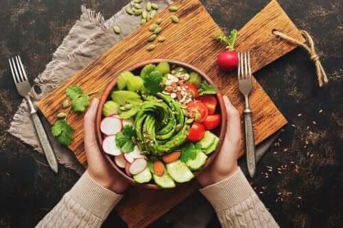 En sunn salat.