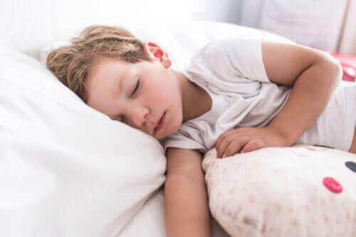 Et sovende barn.