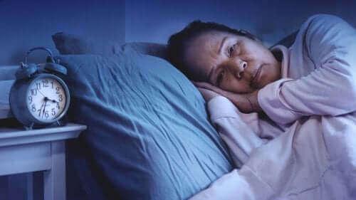Kvinne som ikke får sove.