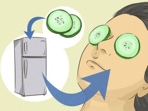 9 masker for å eliminere mørke ringer og poser under øynene