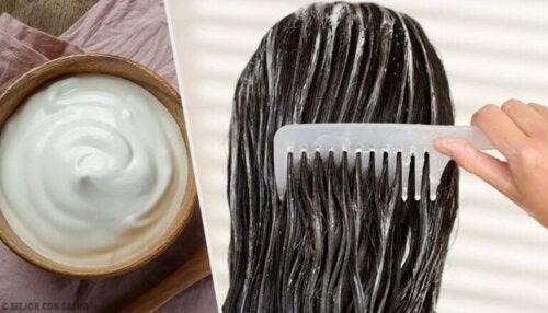 Få vakkert hår med majonesmasker