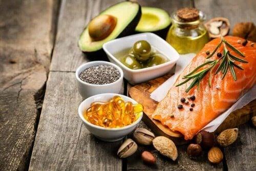 Forskjellige kilder til omega-3