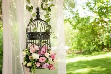Ideer til å dekorere i vintagestil: Et bur