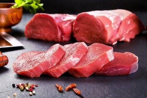 Kjøtt for normale hemoglobinnivåer.