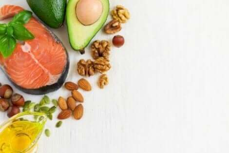 Matvarer med Omega 3-fettsyrer.