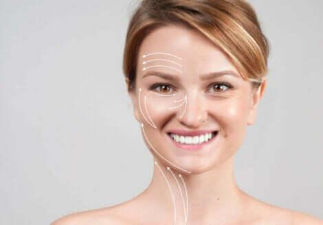 Virkningen av kollagen på huden.