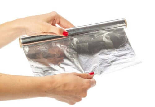 Person holder aluminiumsfolie