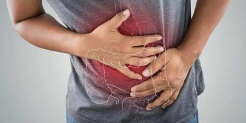 Person med irritabel tarm
