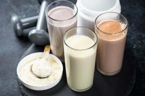 Proteinshake og proteinpulver