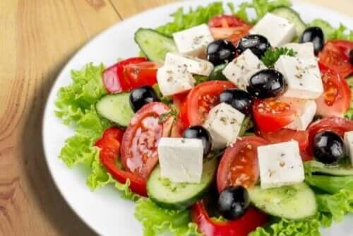 Fetaost i salat
