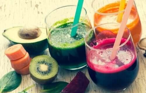 Fruktjuice i glass