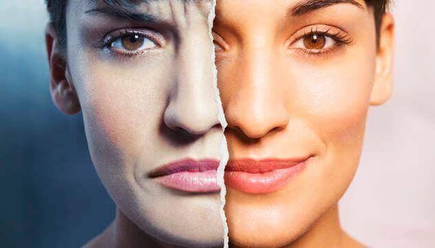 kvinne med to ansikter