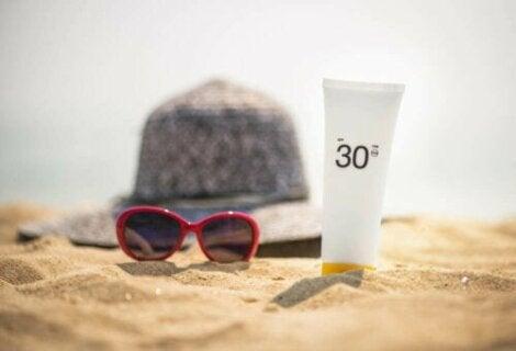 Solkrem for å forhindre solbrenthet