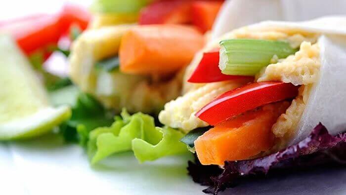 grønnsakswraps