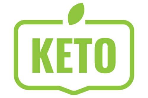 """Ordet """"keto"""" i grønt."""
