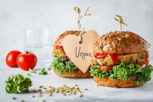 To veganske burgere.