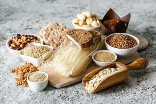 Matvarer med gluten