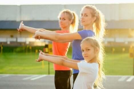 Crossfit-øvelser for barn.