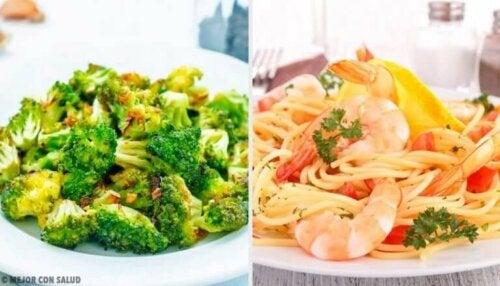 Topp 5 salatoppskrifter for å slippe å gå sulten