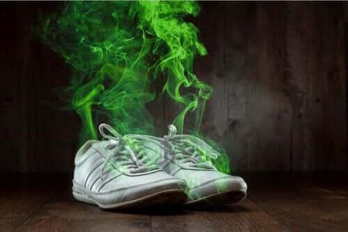 Et par illeluktende sko