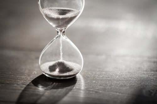 Et timeglass.