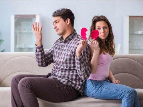 Par som inngår midlertidig separasjon.