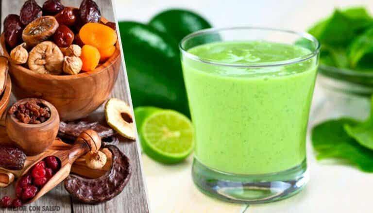 Lag sunne og næringsrike grønne smoothies
