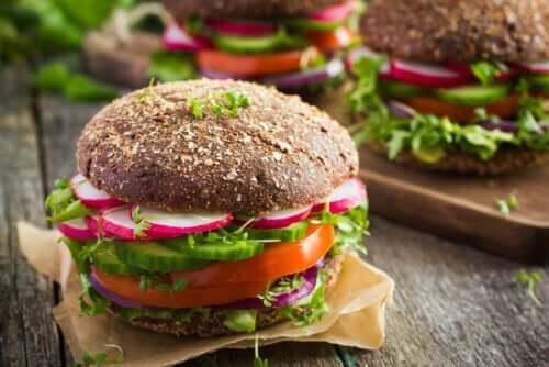 Vegansk burger