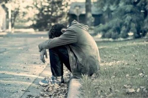 En mann som er trist
