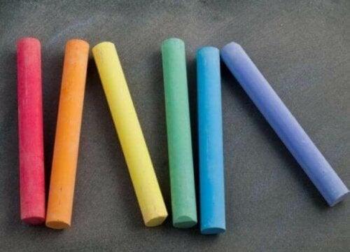 Kritt i forskjellige farger