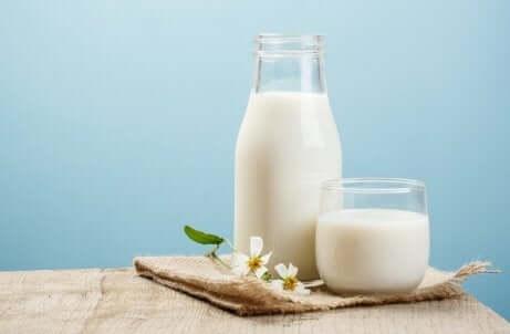 gå opp i vekt på en sunn måte ved å drikke melk