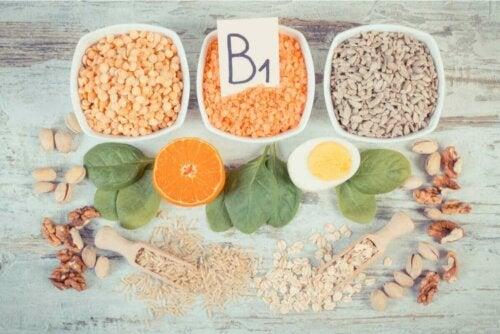 Komplekse B-vitaminer i mat.